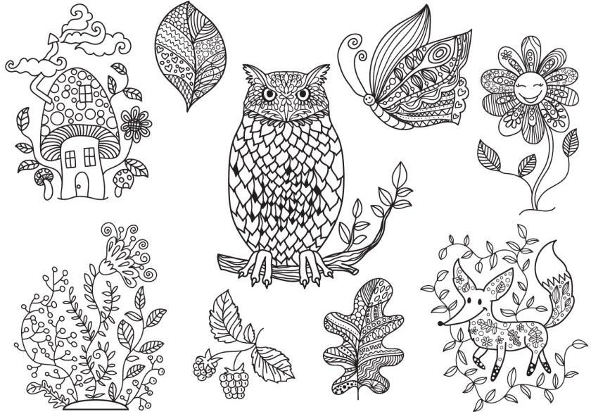 free enchanted forest coloring vectors  download free