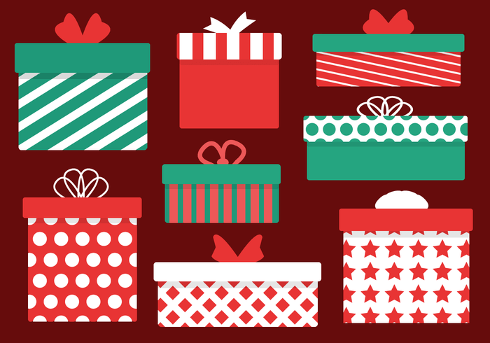 Christmas Presents Vector Download Free Vector Art