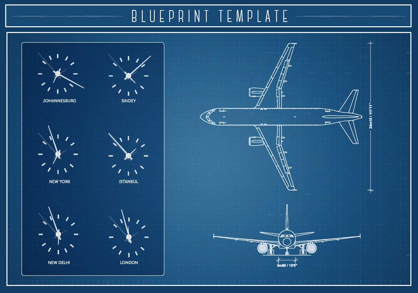 Airlplane Blueprint Vector Download Free Vector Art
