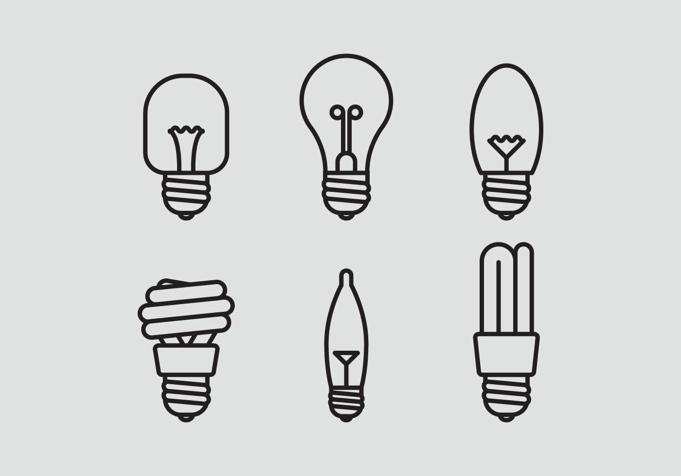 Vector Lamp Icon Set