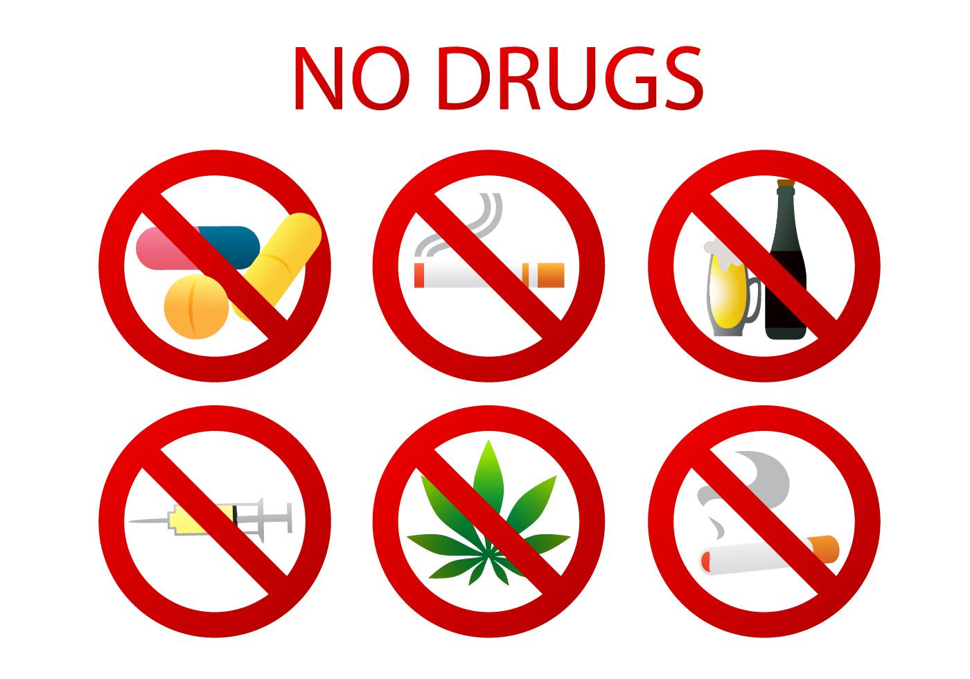 No Drugs Vectors