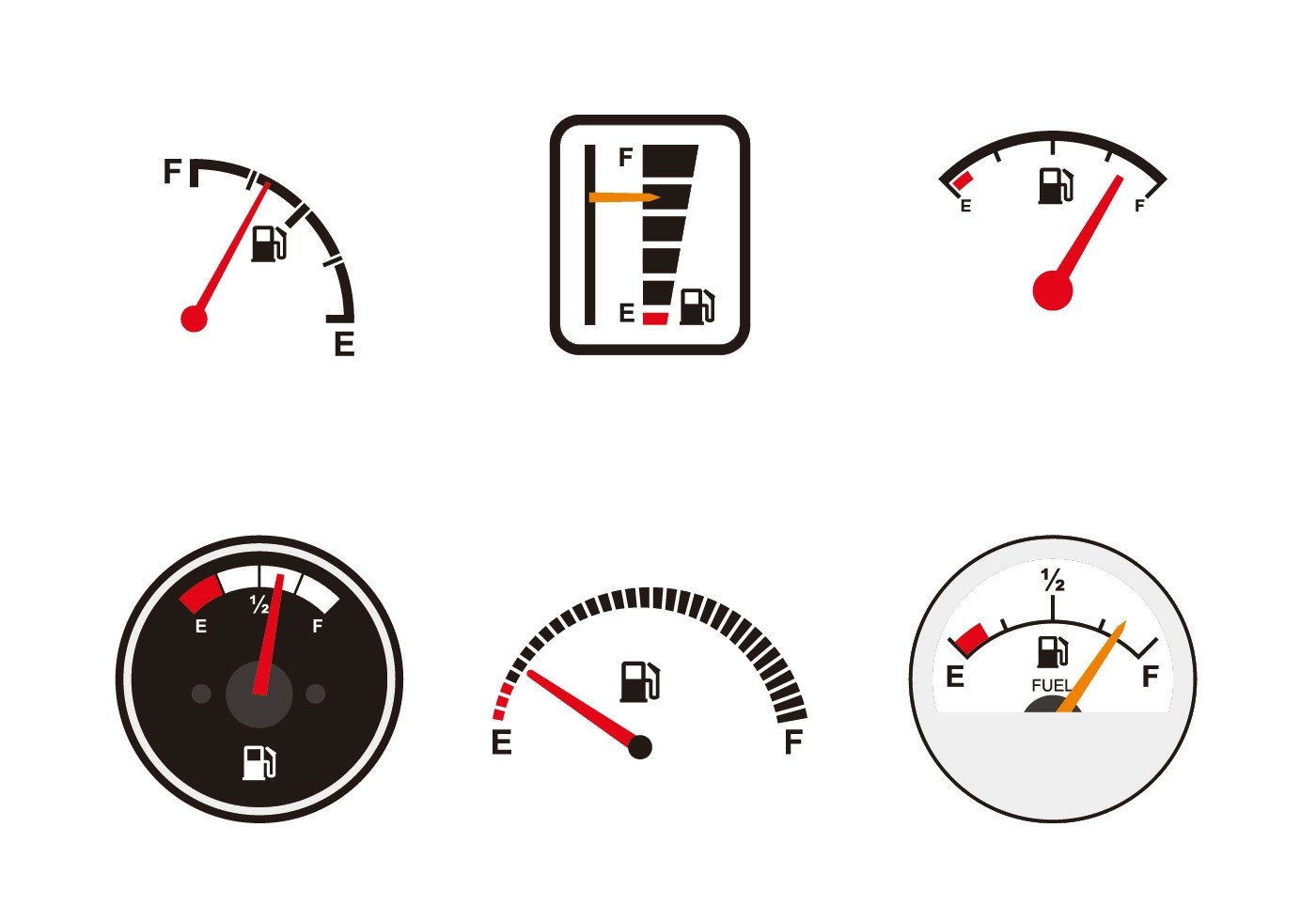 Various Fuel Gauge Vectors