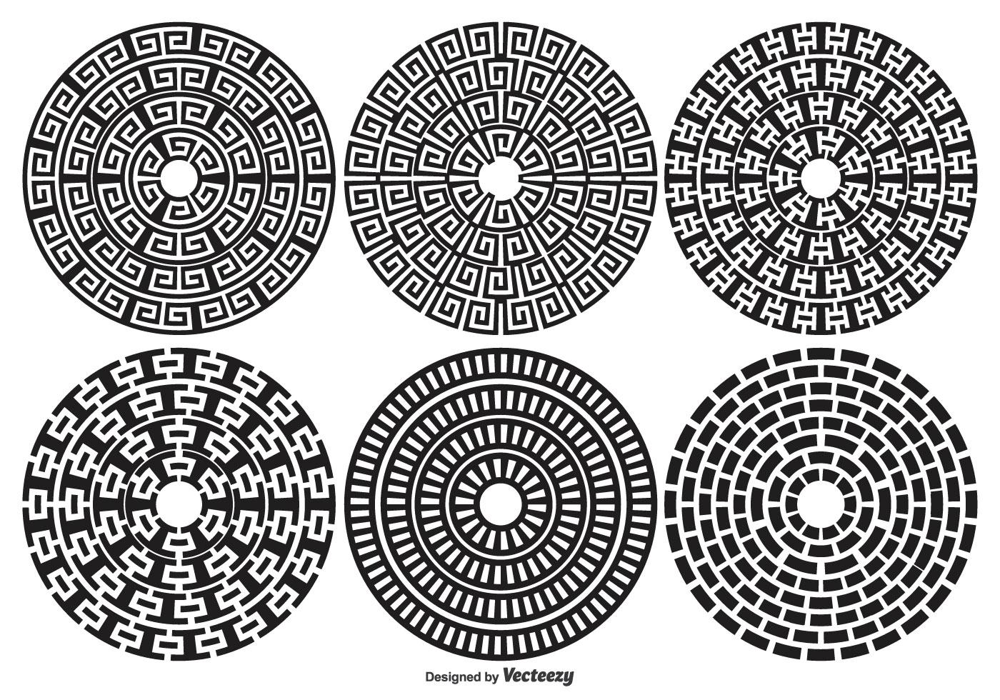 Decorative Circle Shape Set