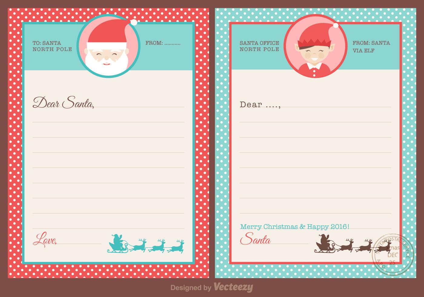 Free Santa Letters Design Vector Download Free Vector