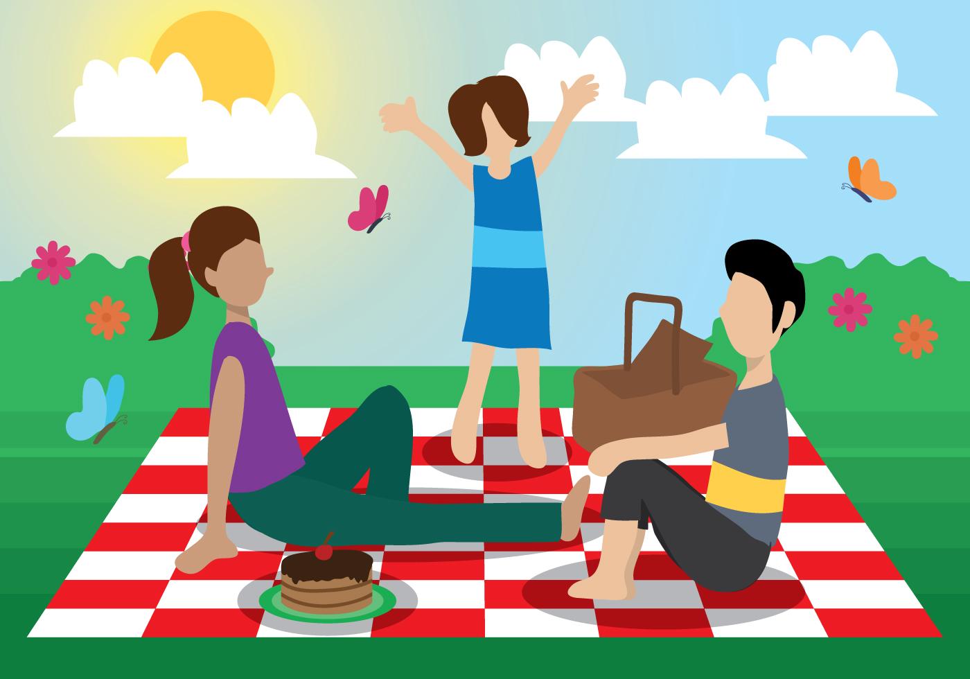 Family Picnic Vector Download Free Vector Art Stock