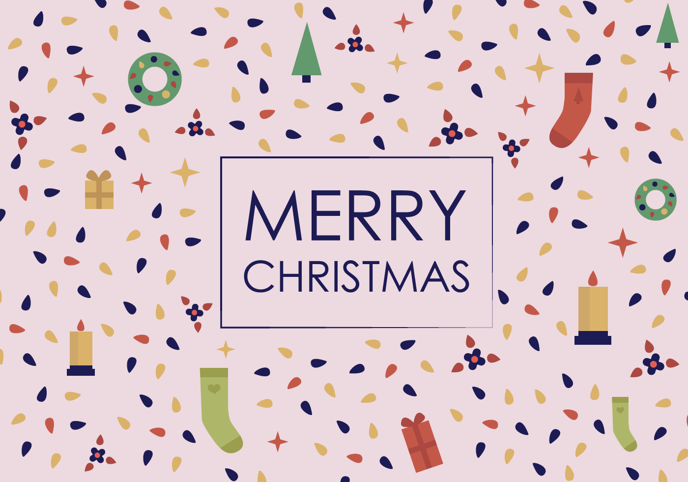 Free Merry Christmas Vector