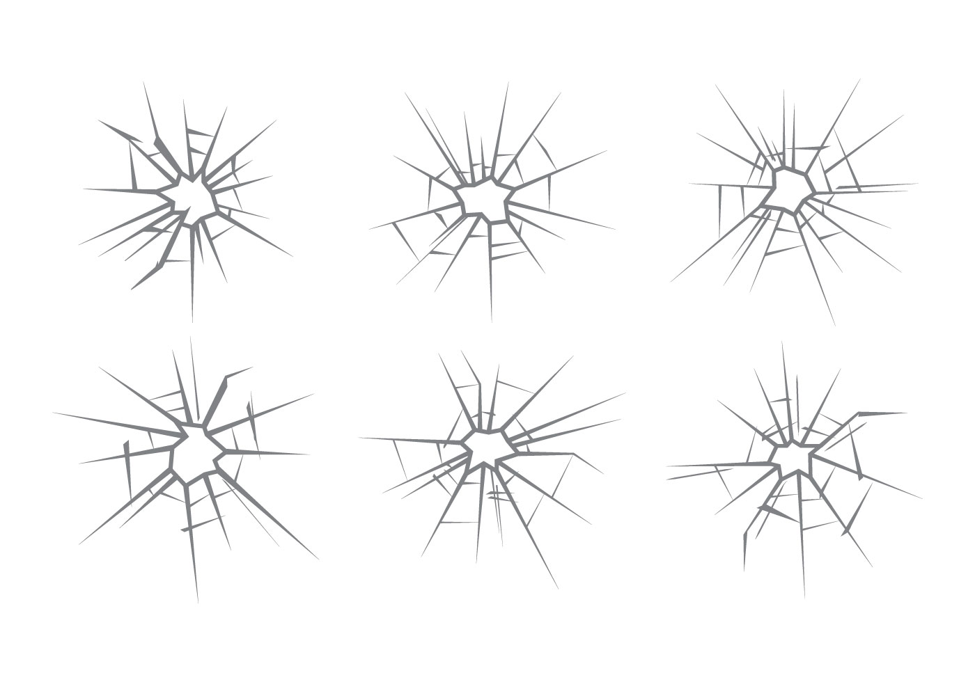 Cracked Glass Free Vector Art