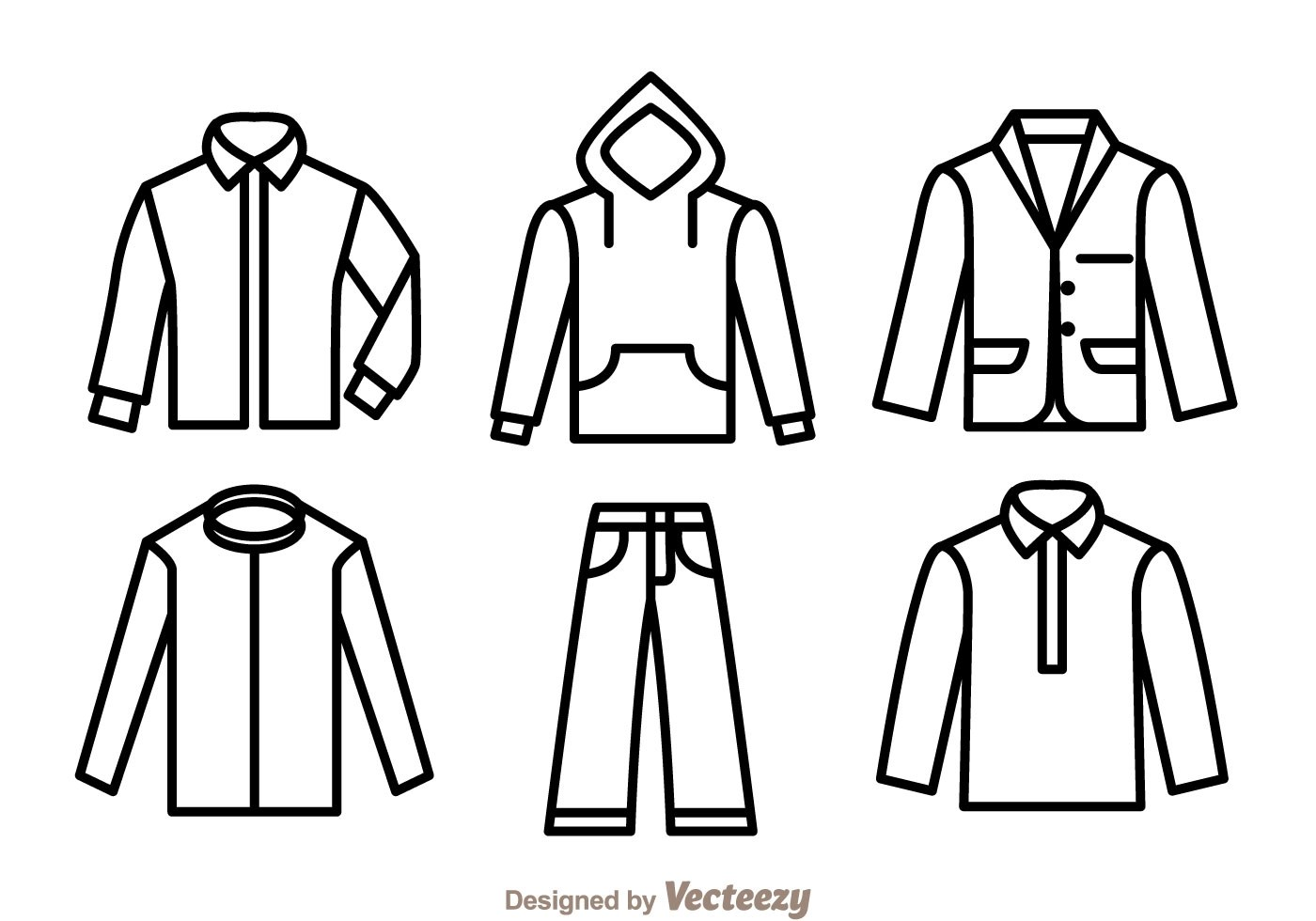 Clothes Outline Icons