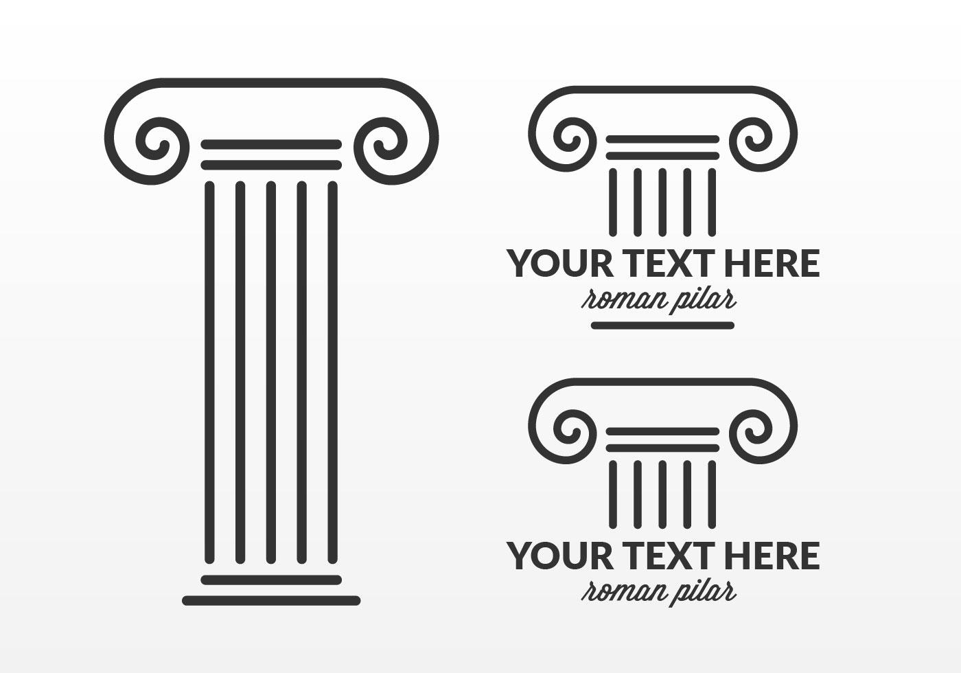 Greek Column Free Vector Art