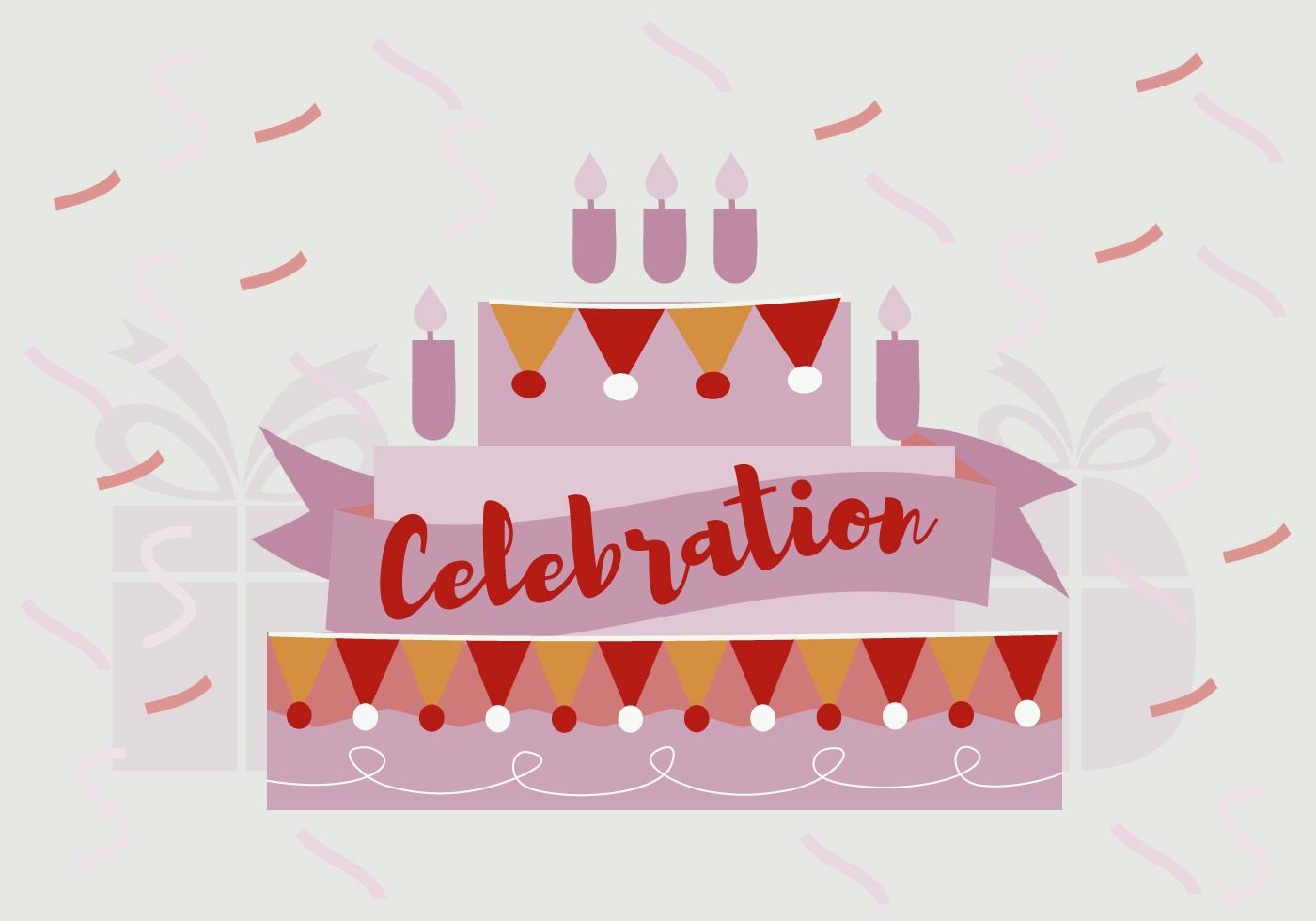 Free Birthday Celebration Vector Background Download
