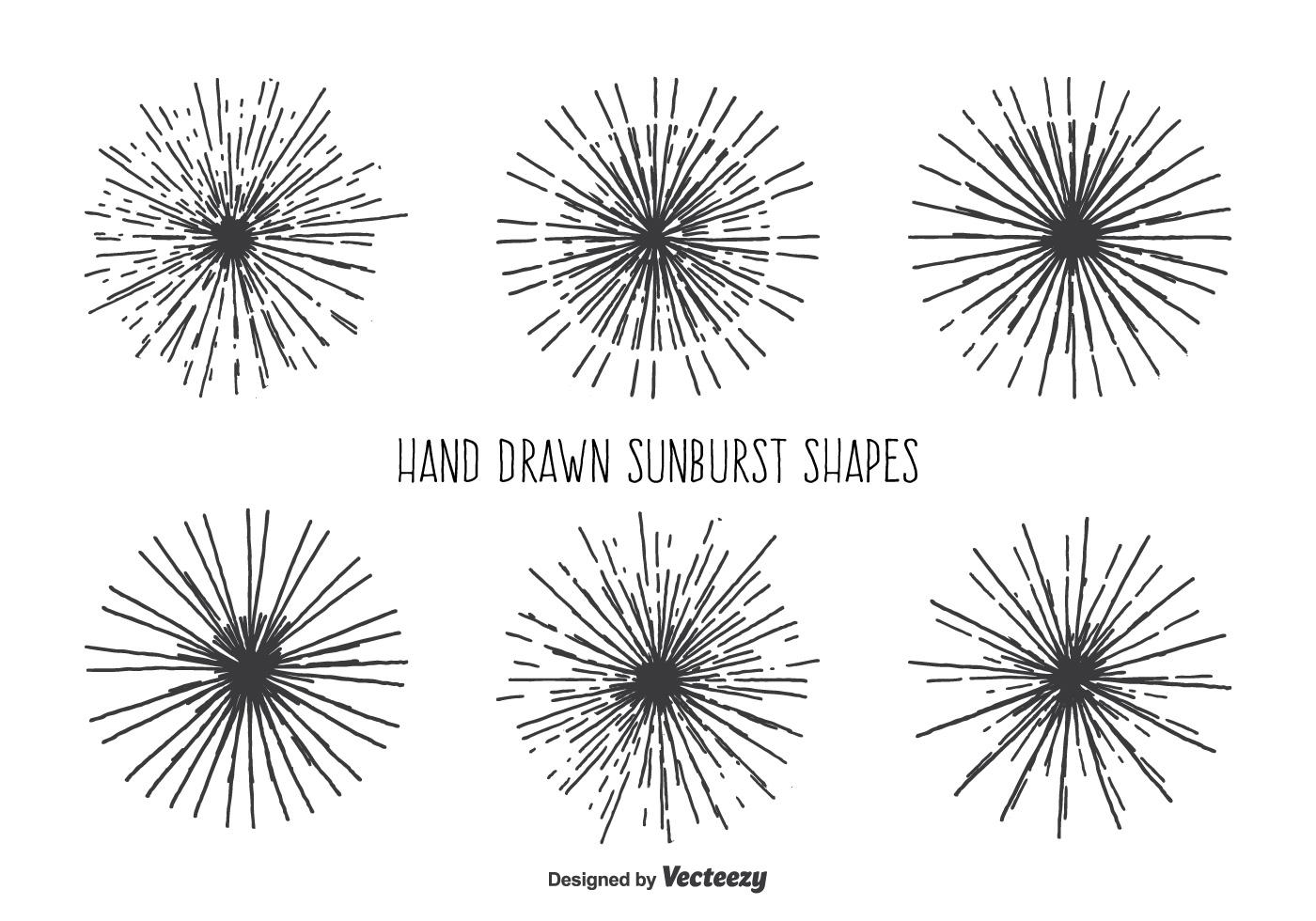 Vintage Sunburst Shape Set
