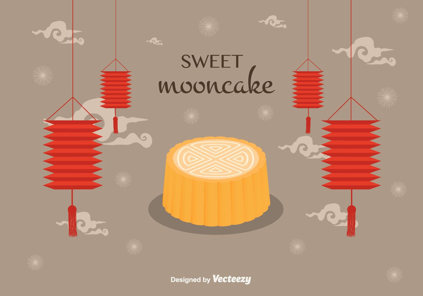 Mooncake Vector Background Download Free Vector Art