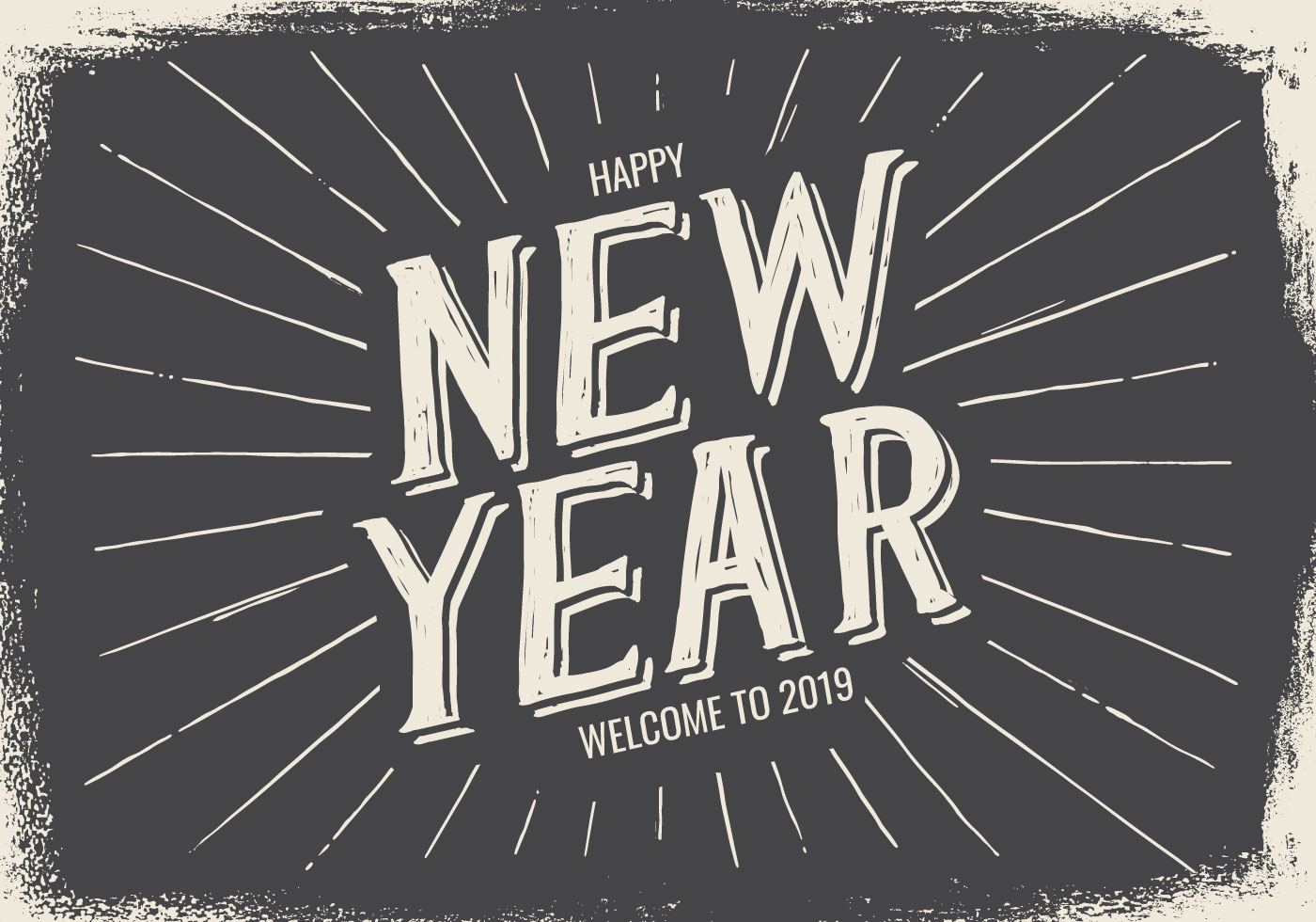 New Year Typographic Illustration Download Free Vector