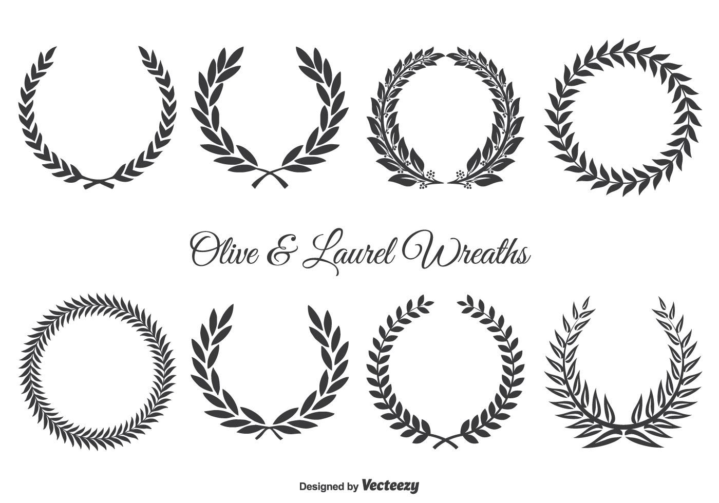 Olive And Laurel Wreath Set
