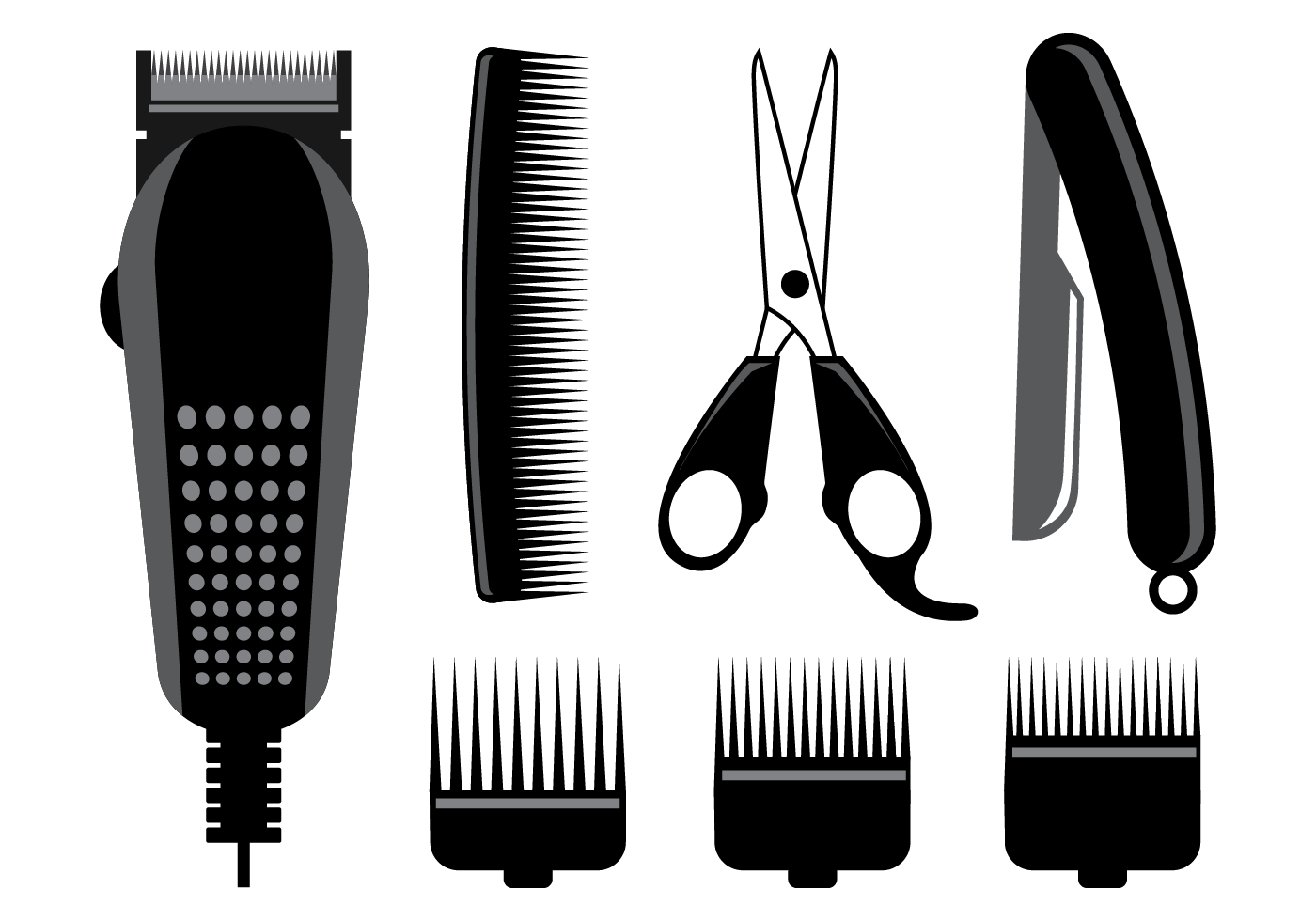 Free Hair Clippers Vector Download Free Vector Art