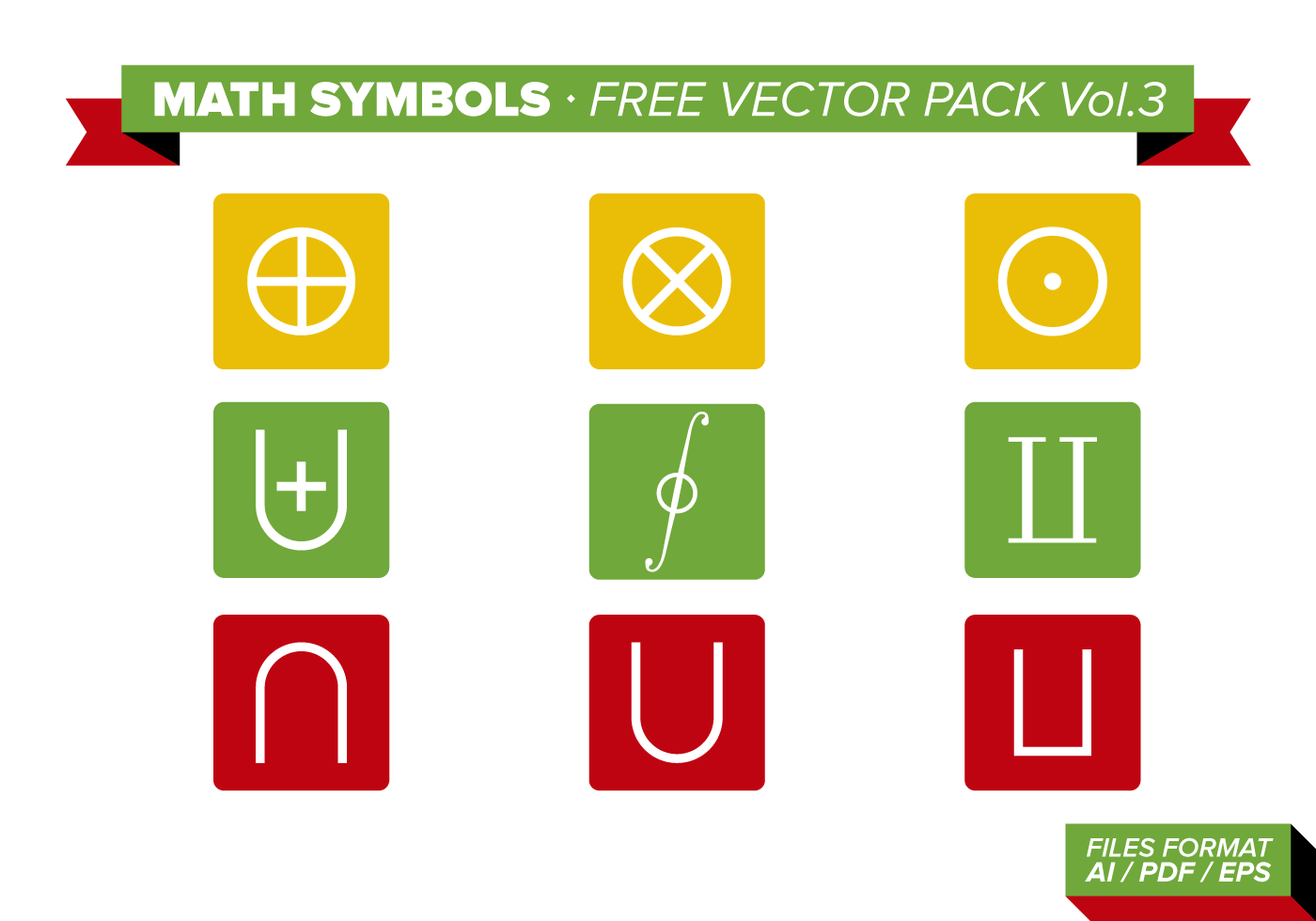 Math Symbols Free Vector Pack Vol 3