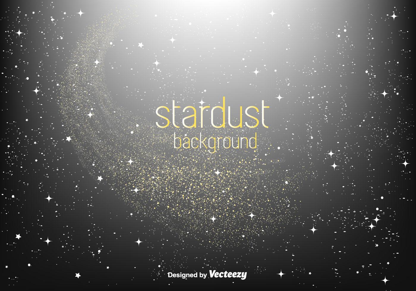 Golden Stardust Vector Background Download Free Vector