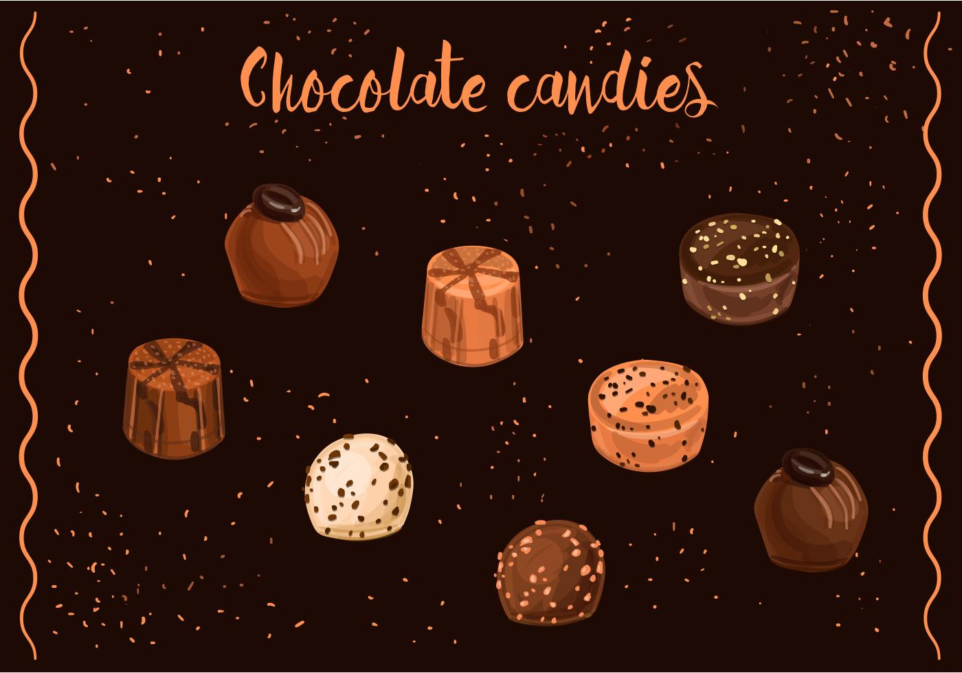 Chocolate Candies Vectors Download Free Vector Art