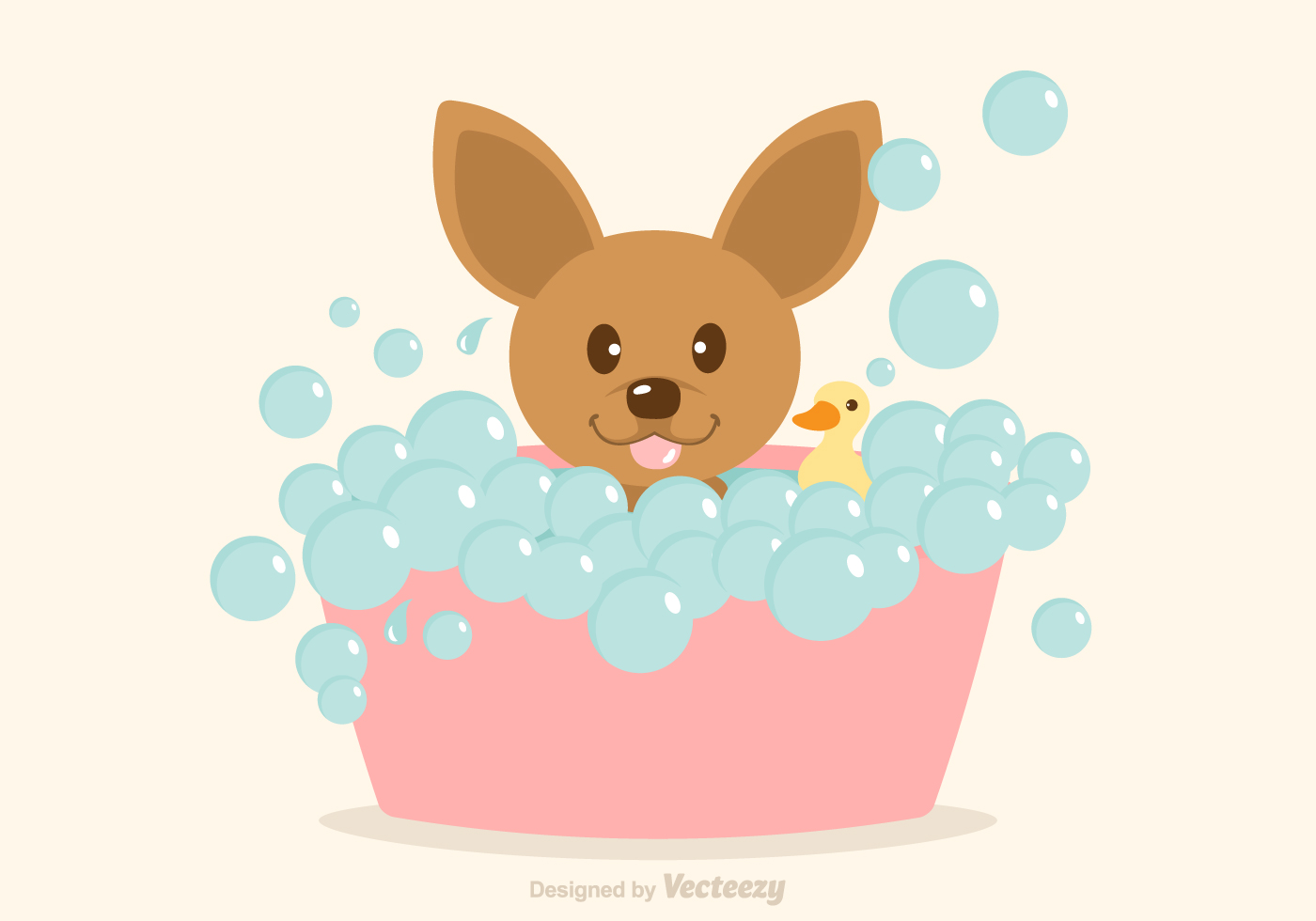 Free Vector Dog Having A Bath Download Free Vector Art