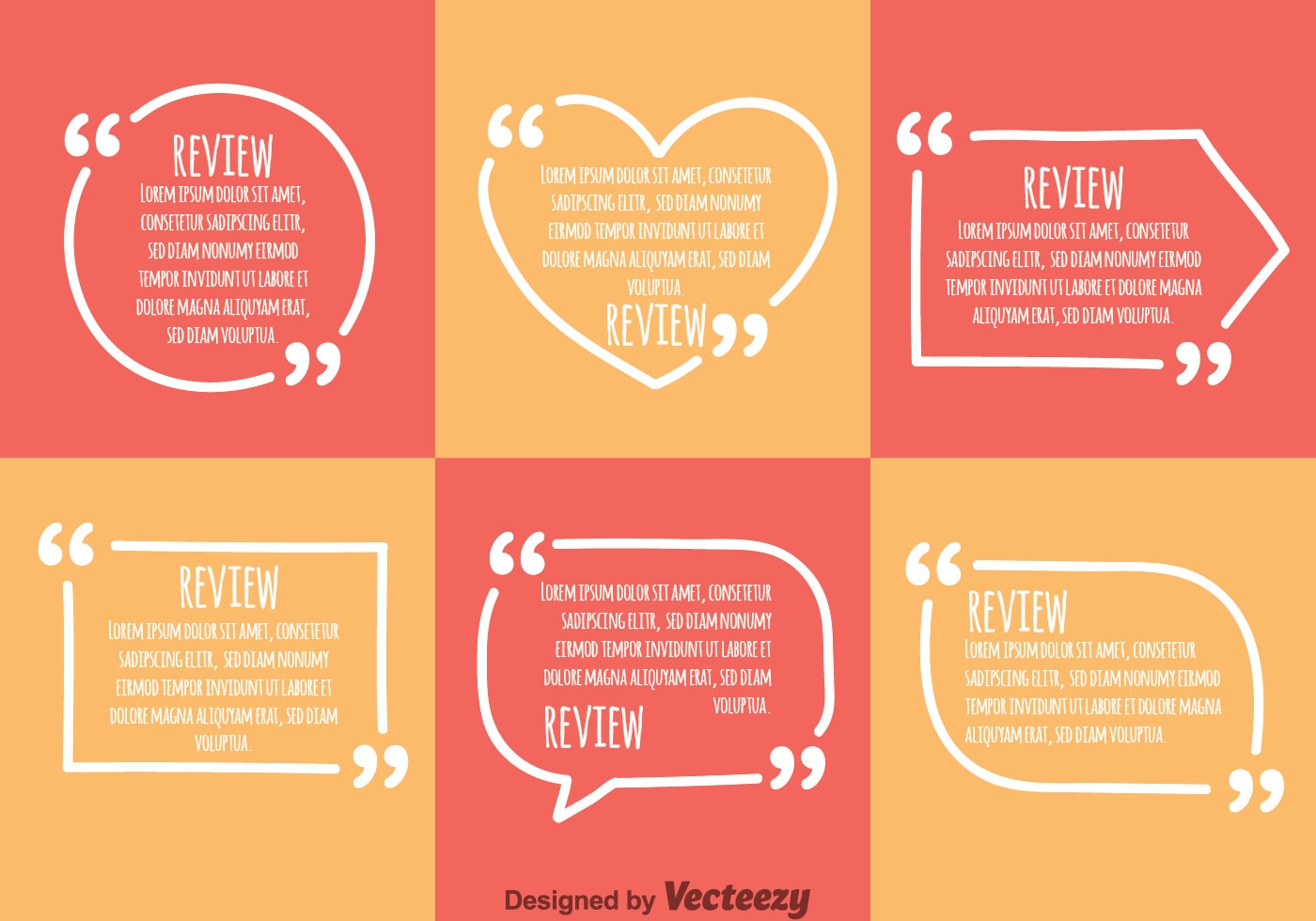 White Quotation Mark Sets Vector