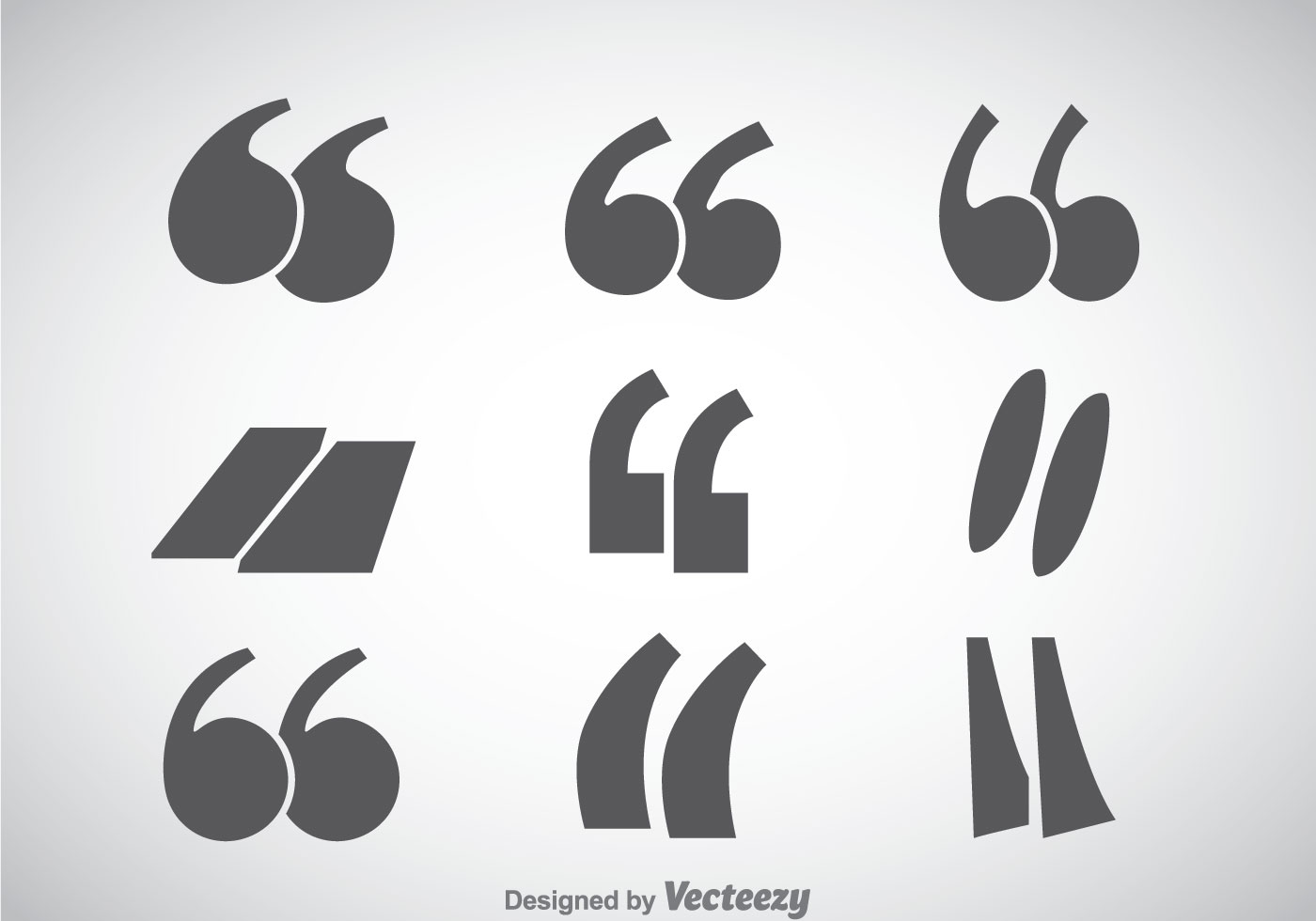 Quotation Mark Sets Vector