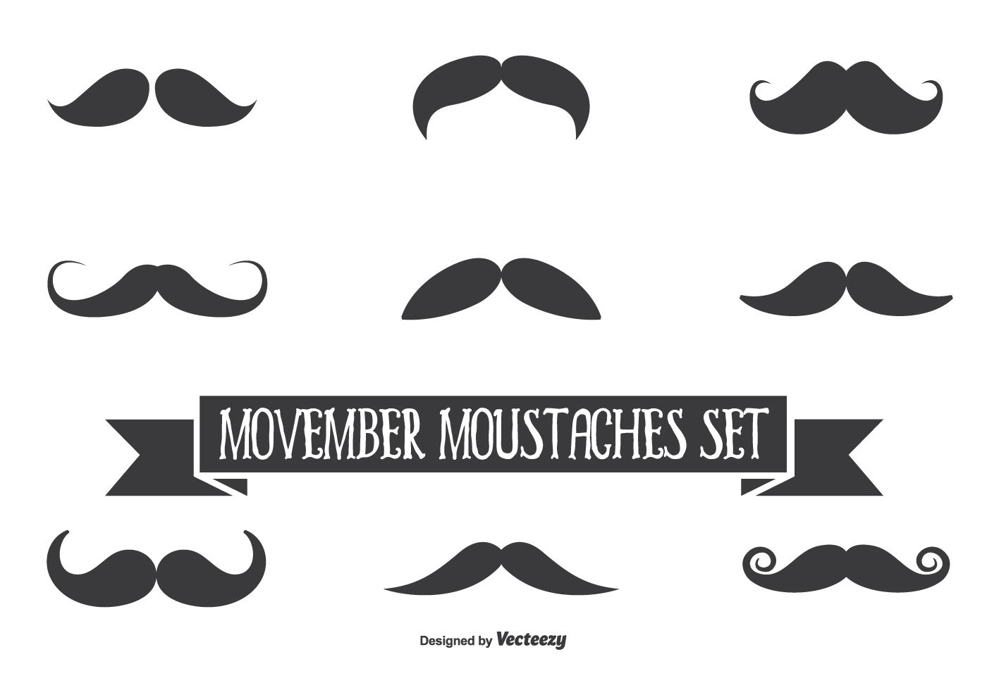 Movember Vector Moustache Set