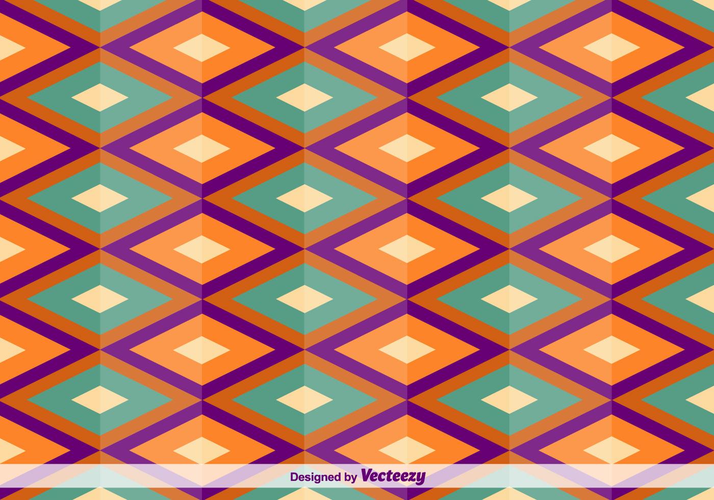 Geometric Square Oriental Vector Pattern