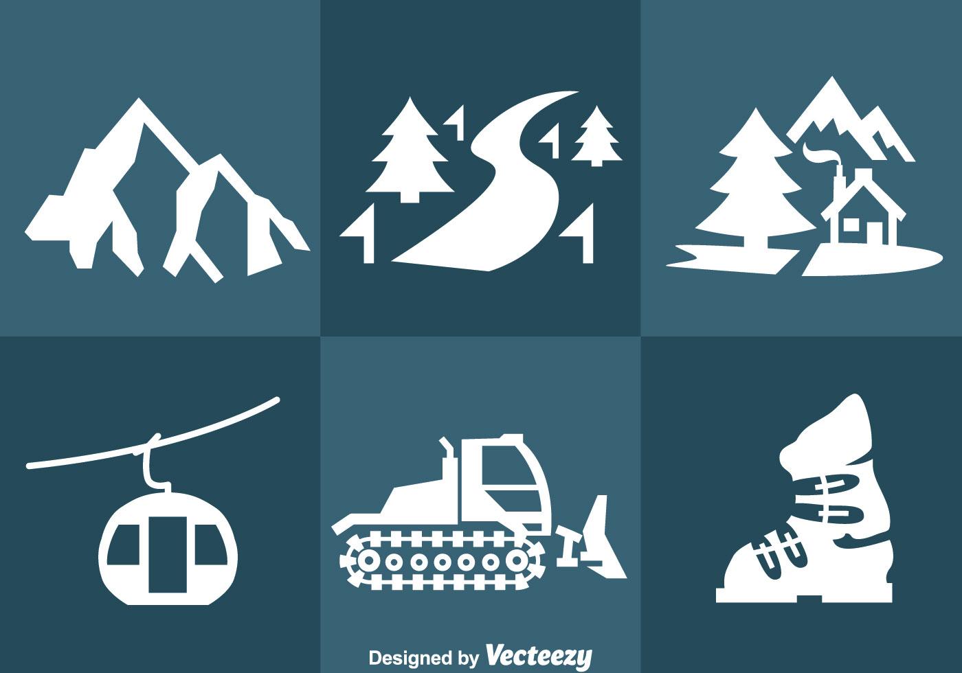 Snow Resort Icons Vector Download Free Vector Art Stock