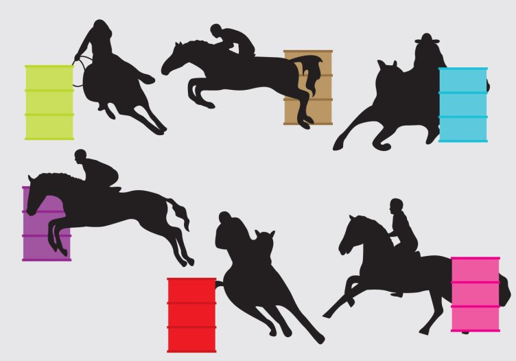 Barrel Racing Silhouettes - Download Free Vectors, Clipart ...