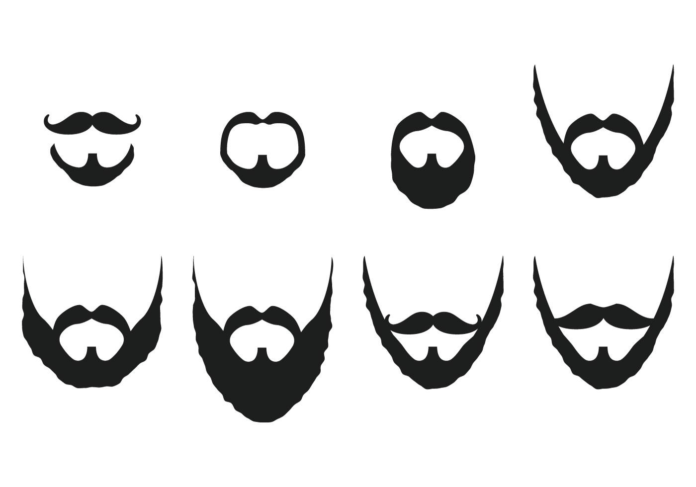 Mustache And Beard Vectors