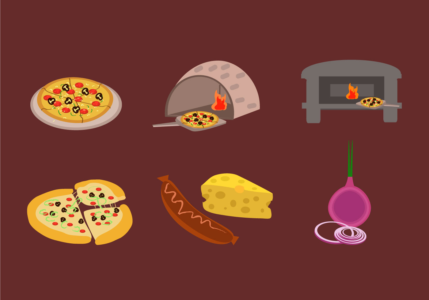 Making Pizza Vector Download Free Vector Art Stock