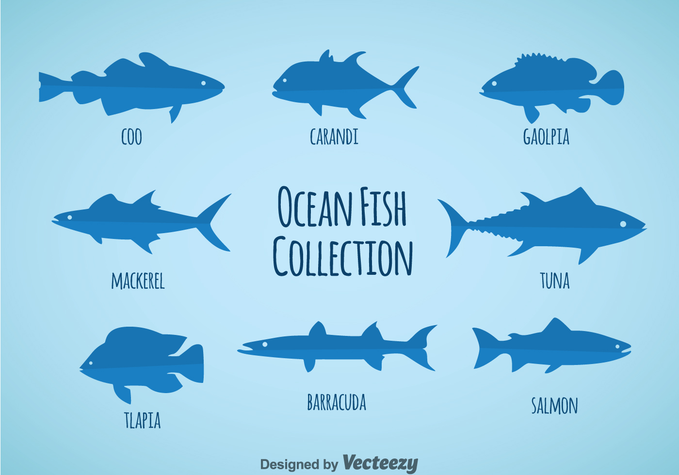 Ocean Fish Collection Vector