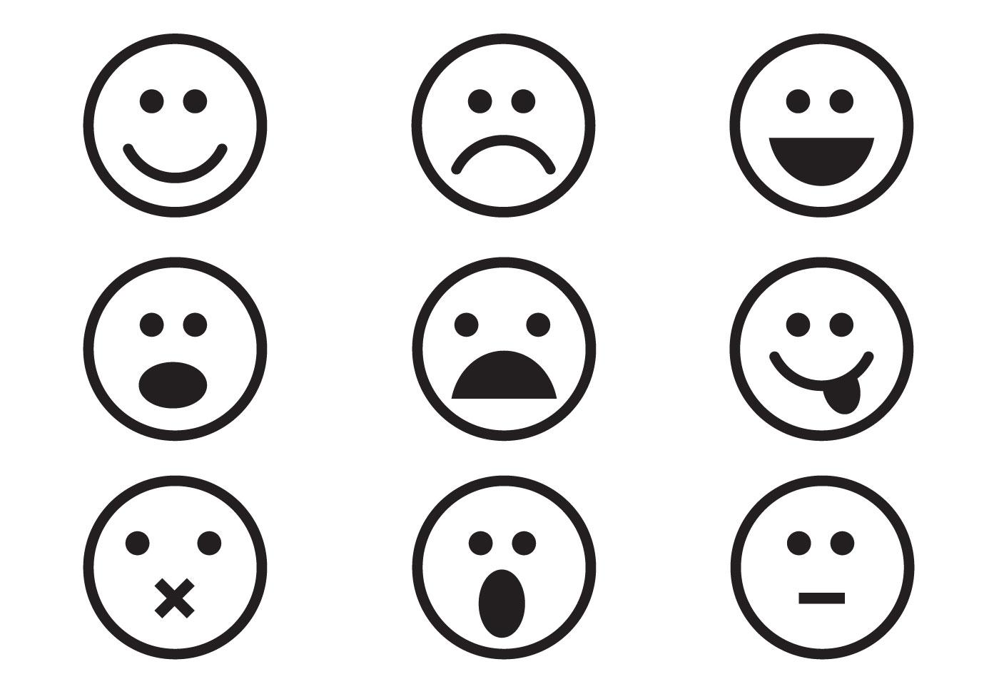 Free Emoticon Set Vector