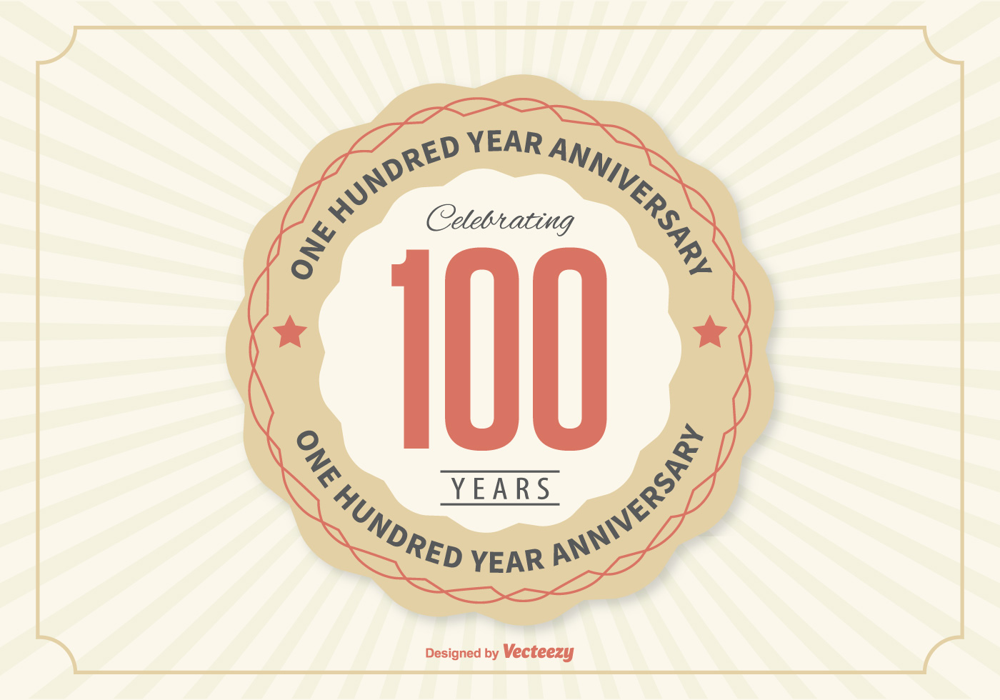 100 Year Anniversary Illustration Download Free Vector