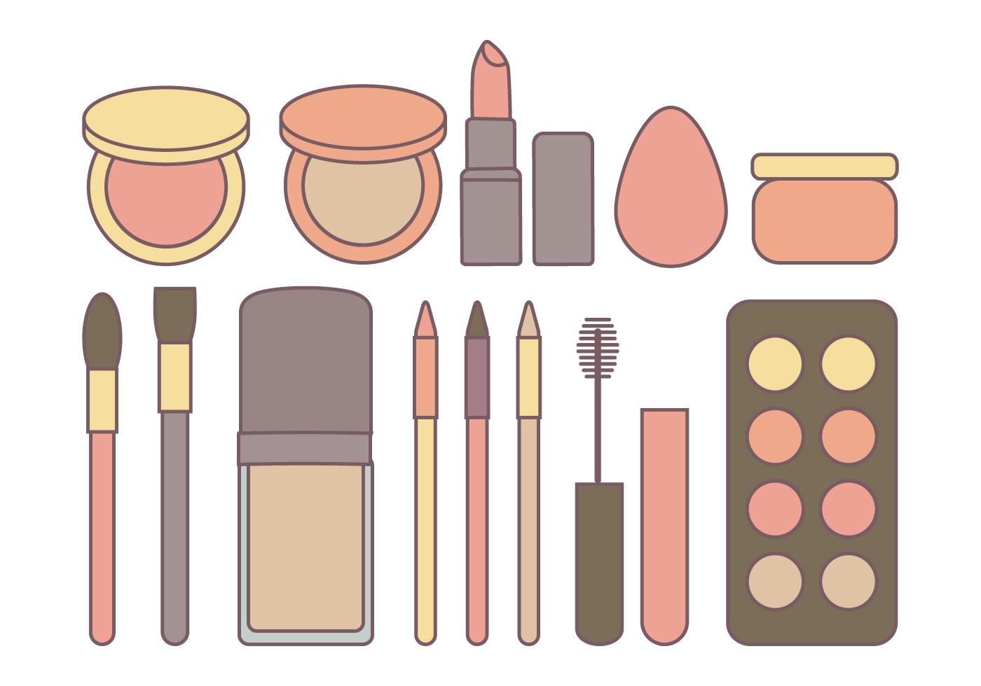 Vector Cosmetics Collection Download Free Vector Art
