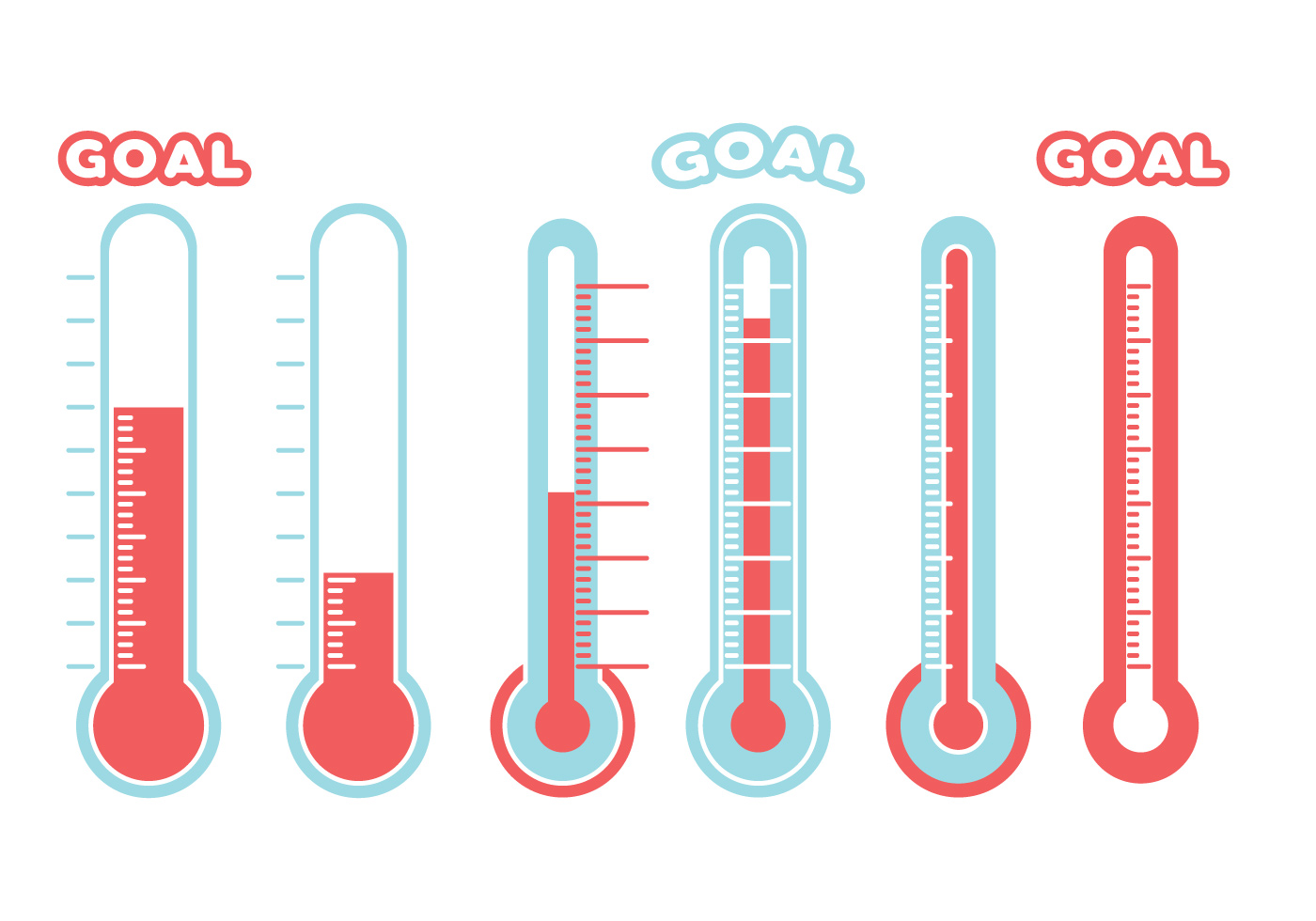 Pin Goal Thermometer Images