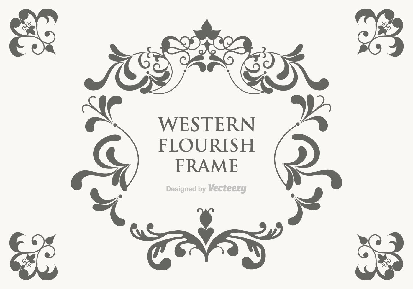 Vector Western Flourish Frame