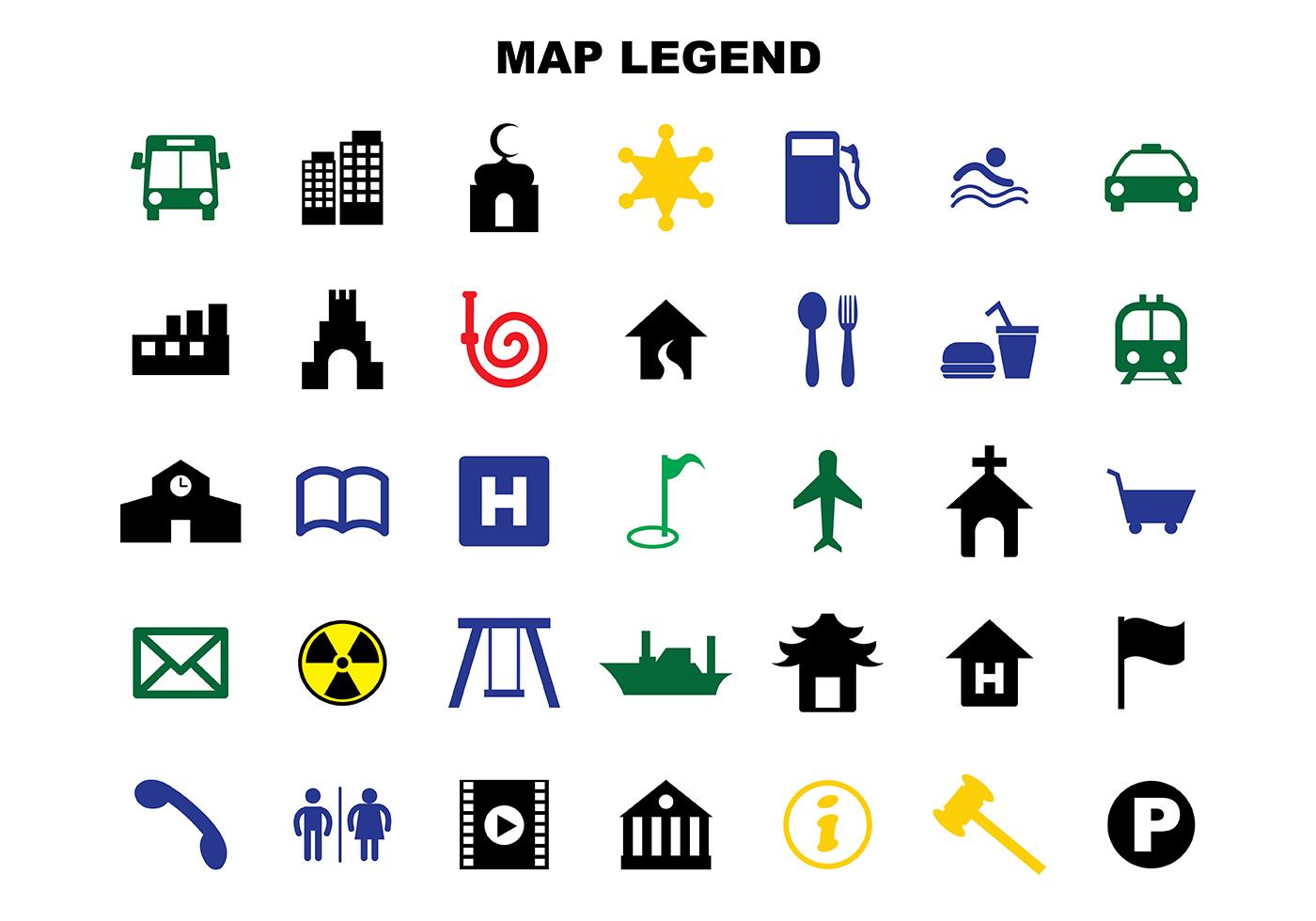Map Symbols Free Vector Art
