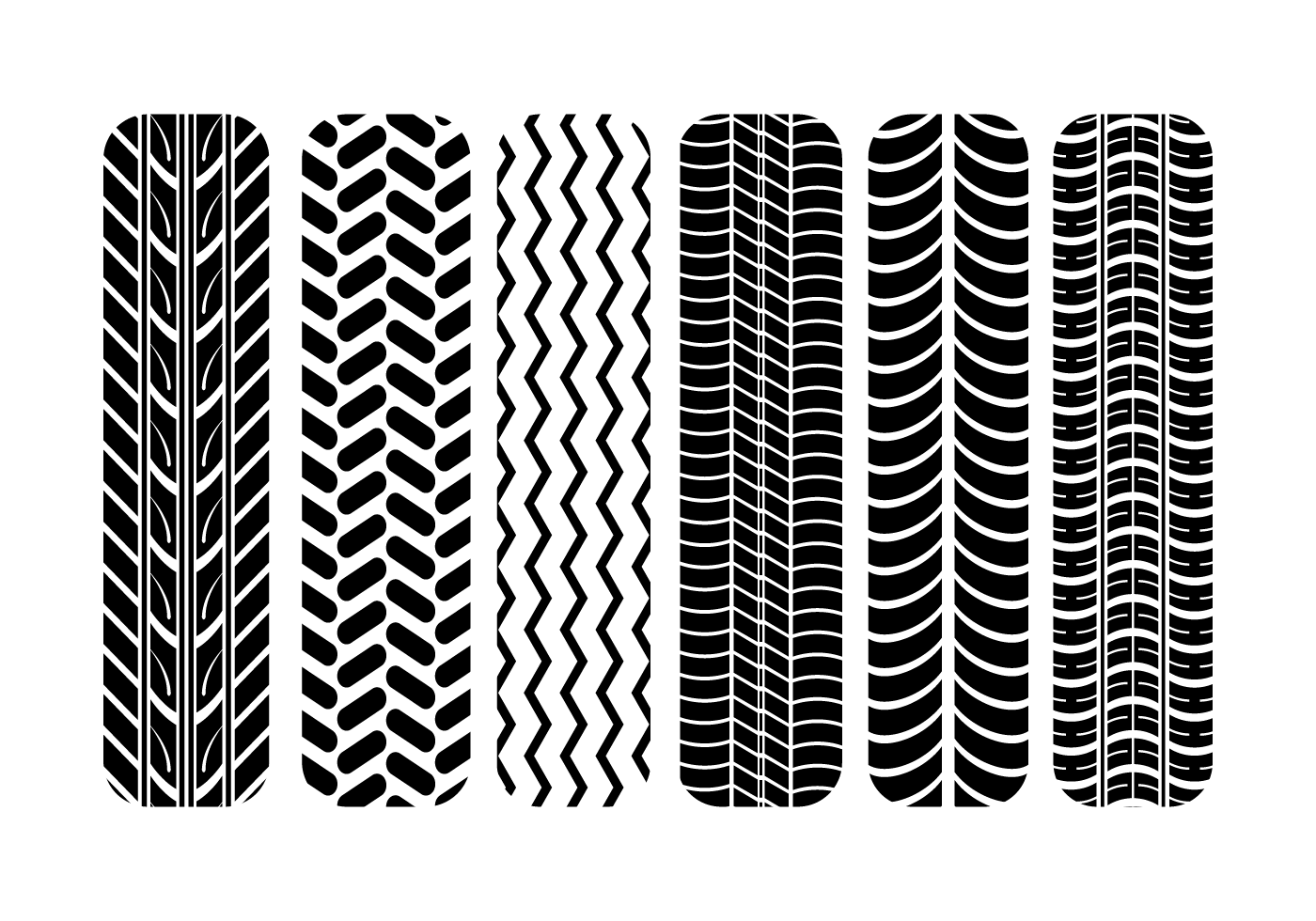 Black And White Tire Shape
