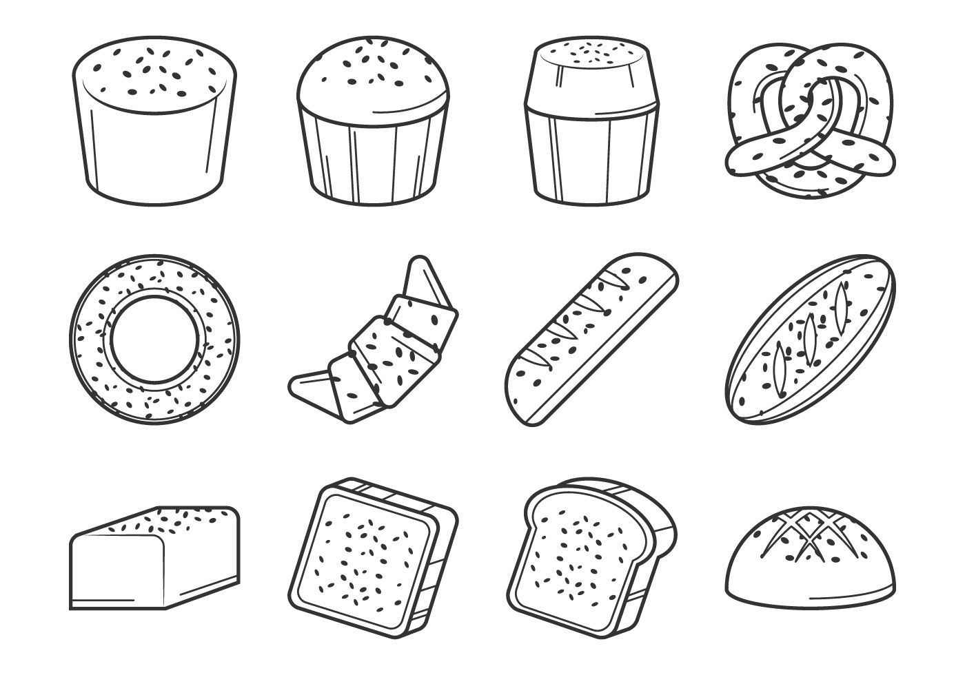Raisins Bread Vector