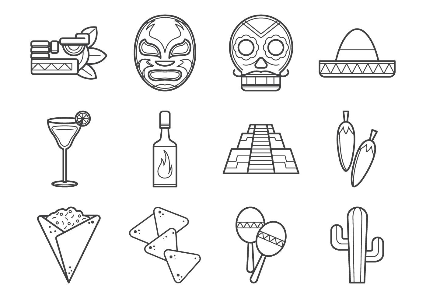 Coleccion De Iconos Mexicanos