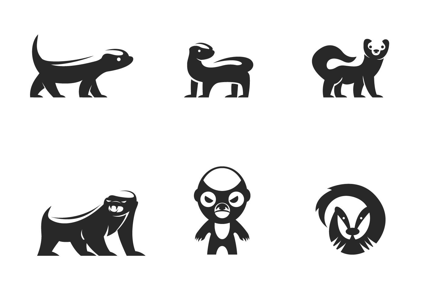 Honey Badger Logo Vector