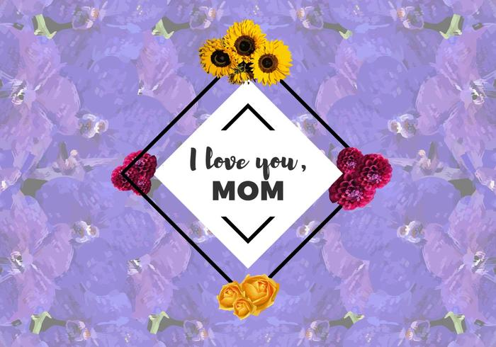 Download Free I Love You Mom Flowers Vector - Download Free Vector ...