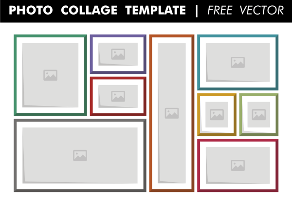 Photo Collage Template Free Vector Download Free Vectors