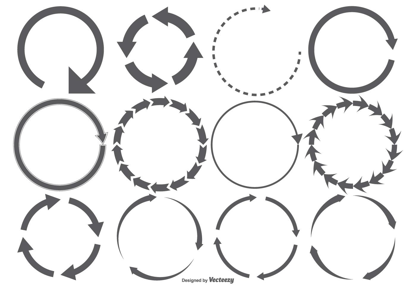 Round Arrow Shape Set