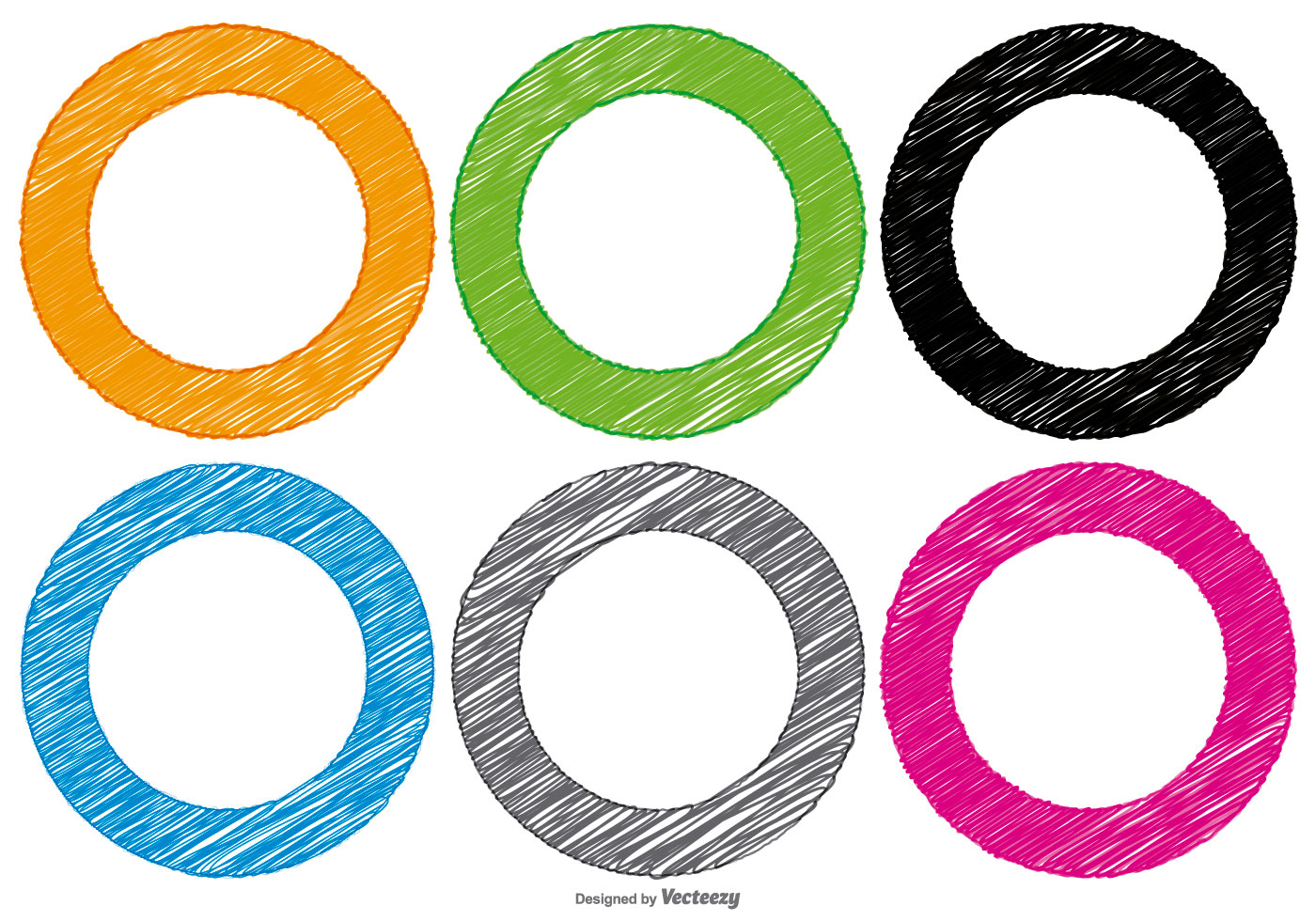 Scribble Style Circle Shapes