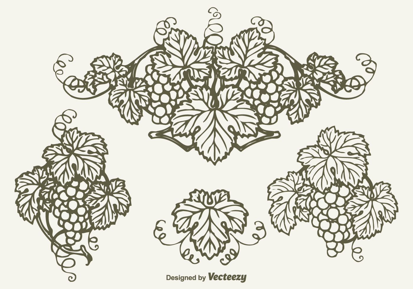 Drawn Bunch Of Grapes Vector Design Download Free Vector