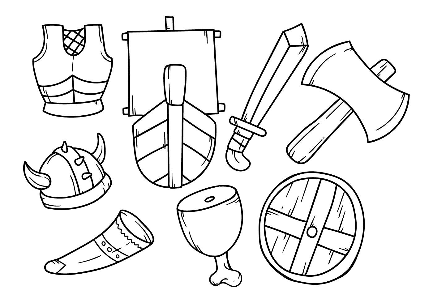 Free Hand Drawing Viking Icon