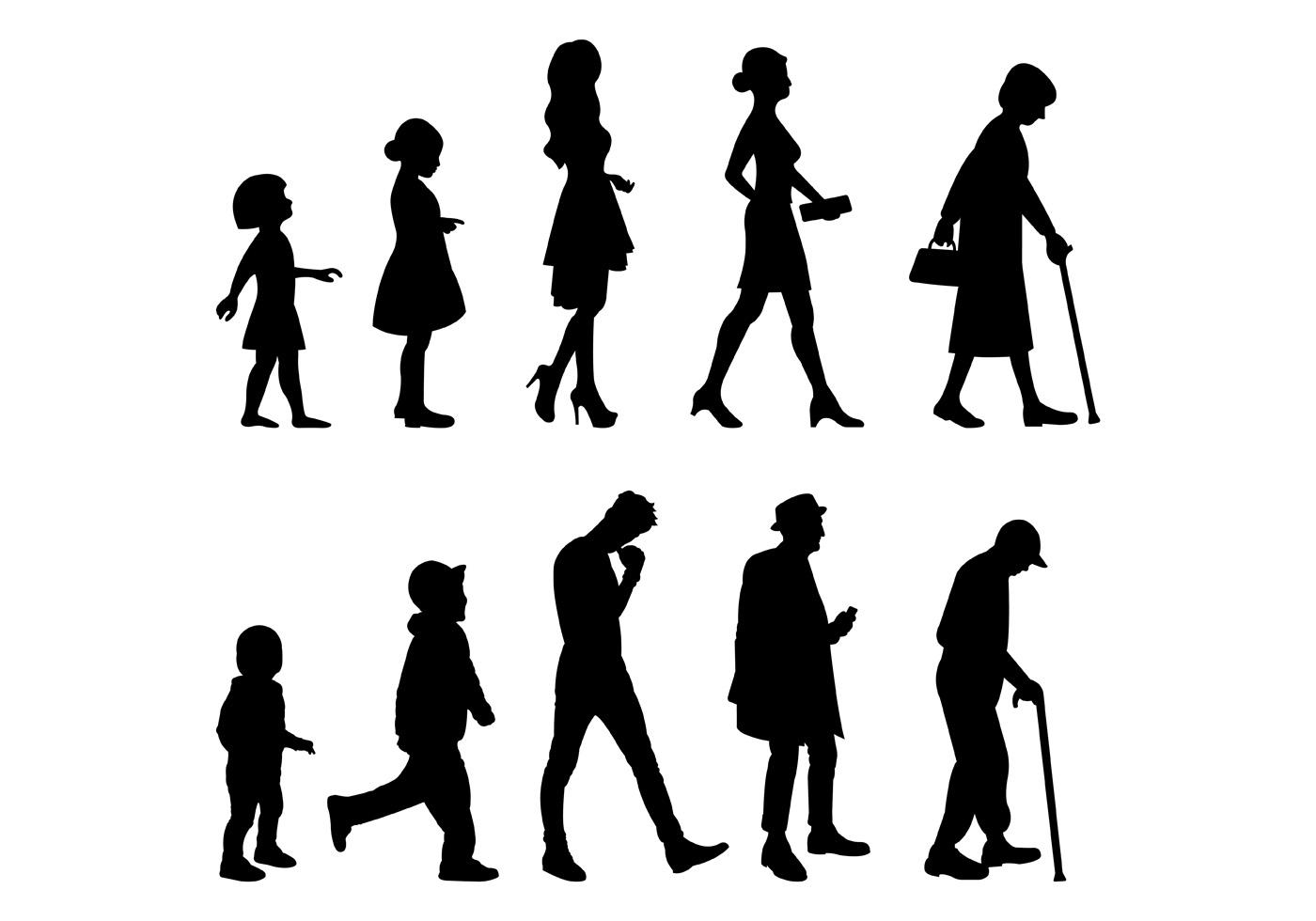 Vector Of Grow Up Human