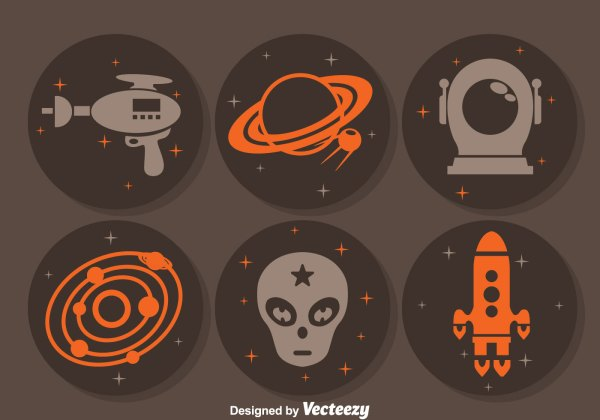 Alien Space Circle Icons Download Free Vector Art Stock